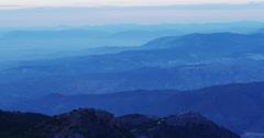 Sunset light spain mountain range 4k sierra nevada Stock Footage