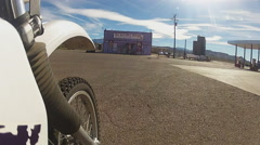 Low Angle View Of Motorcycle Up To Gentlemens Club Stock Footage