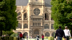 Eglise Saint-Eustache church, Paris - stock footage
