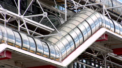 Centre Georges Pompidou Stock Footage