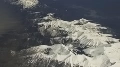 Aerial View of the Rocky Mountains - stock footage