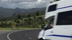 Campervan country road, Coromandel Peninsular, New Zealand - stock footage