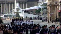 Marching Soldiers, Military Parade Stock Footage