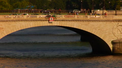 The Pont Neuf in Paris, France Stock Footage