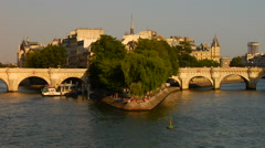 Ile de la Cite - stock footage