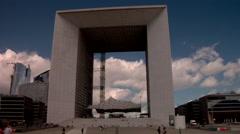 Grand Arch, La defense paris Stock Footage