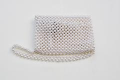 pearls purse - stock photo