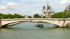 Notre Dame, The Seine Stock Footage