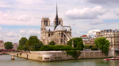 Notre Dame Ile de la Cite Stock Footage