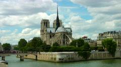 Notre Dame Ile de la Cite - stock footage