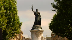 Place de la Republique Stock Footage