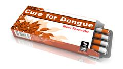 Cure for Dengue - Brown Pack of Pills - stock illustration