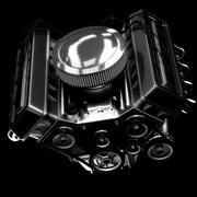 shiny motor isolated on black - stock illustration