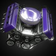 Stock Illustration of shiny motor isolated on black