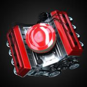 Stock Illustration of shiny motor isolated on black