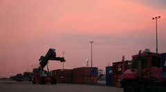 Footage 1 Loader Container Industrial Cargo Cart Trolley Truck Carriage Bogie Stock Footage