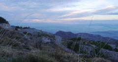 Spain mountain range sunset panorama view 4k Stock Footage