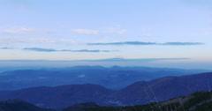 Sunset panoramic view on mountain range 4k spain Stock Footage