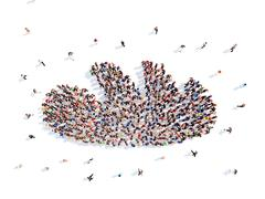 people in the form of stick - stock illustration