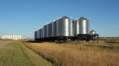 Grain silos. Swift Current, Saskatchewan, Canada. Stock Footage