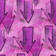 Seamless purple arrows ancient ornament wallpaper background - stock illustration