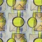 Stock Illustration of Seamless yellow circles circles ancient ornament wallpaper backg
