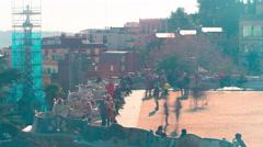 Barcelona sun light rof park guell balcony 4k time lapse spain Stock Footage
