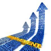 Business improvement concept, 3d render Stock Illustration