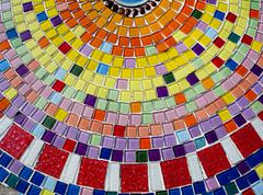 Decorative background with colorful mosaic tiles Stock Photos