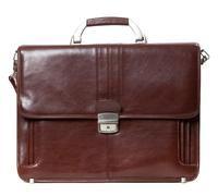 Leather brown briefcase Stock Photos