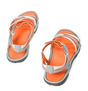 Summer sandals.Top view. - stock photo