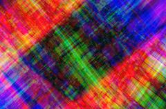 Stock Illustration of Multicolored patchwork canvas with chaotically scattered lines