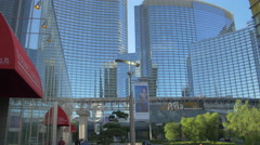 4K video Aria Hotel Resort in the afternoon, Las Vegas Stock Footage