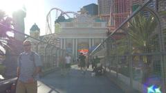 4K video New York - New York Hotel, Las Vegas Stock Footage