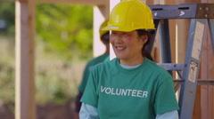 Portrait of volunteer - stock footage