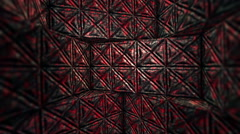 Abstract red room. Seamless loop Stock Footage