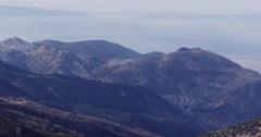 Day light sierra nevada mountain range panorama 4k spain Stock Footage