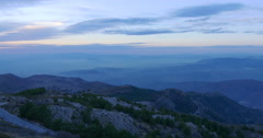 Sunset fog of spain mountain range 4k sierra nevada road Stock Footage