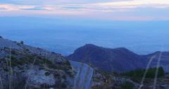 Sunset panoramic view on spain maountain range 4k Stock Footage