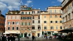 Houses Homes In Trastevere Square Rome Roma Italy Italia - stock footage