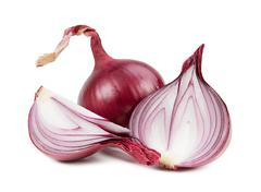 Beautiful onion isolated on white background Stock Photos