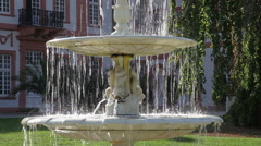 Fountains in the park 1 Stock Footage