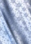 Stock Illustration of Blue snowflakes on a gray blue wavy gradient background