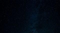 stars milky way airplanes night - stock footage