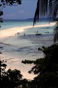 Isthmus isle in madagascar nosy be Stock Photos
