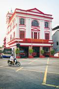Penang  ornate building is an active fire station protecting structures in the G Kuvituskuvat