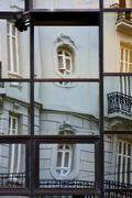 reflex of some palace in a house - stock photo