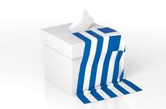 Ballot box with the flag of Greece Stock Illustration