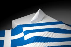 Ballot box with the flag of Greece - stock illustration