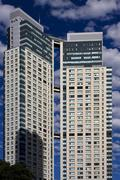 Skyscraper  and office in the  buenos aires Stock Photos